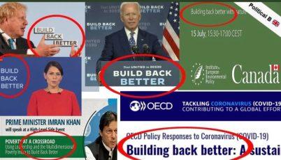 Construa de volta melhor e a grande reinicialização de uma 'conspiração' respeitável
