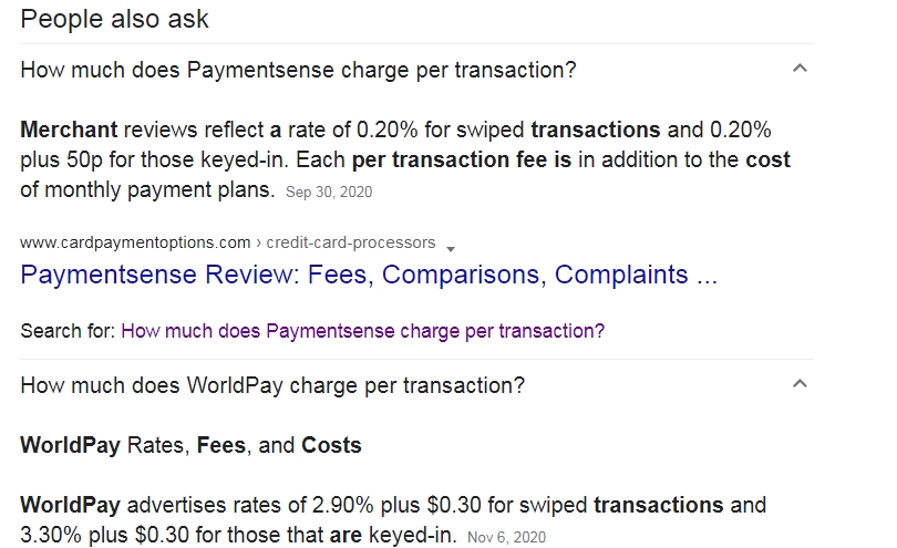 Payment processing fees- How much does Paymentsense charge per transaction?