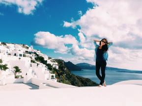 Ingkar in Santorini (from personal archive)