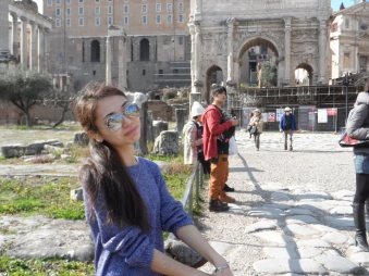 Ingkar in Rome (from personal archive)