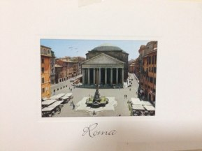 Postcard brought from Rome