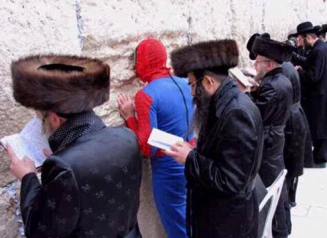 Image result for spiderman at the kotel