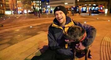 One person who has been there for Mark throughout his ordeal is his dog, Bear.