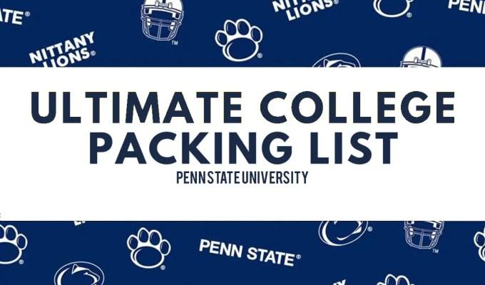 Penn State University Packing List