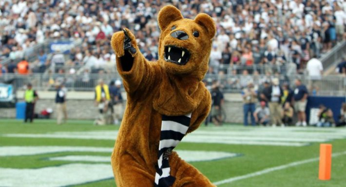 Penn State Nittany Lion Mascot in Football Game