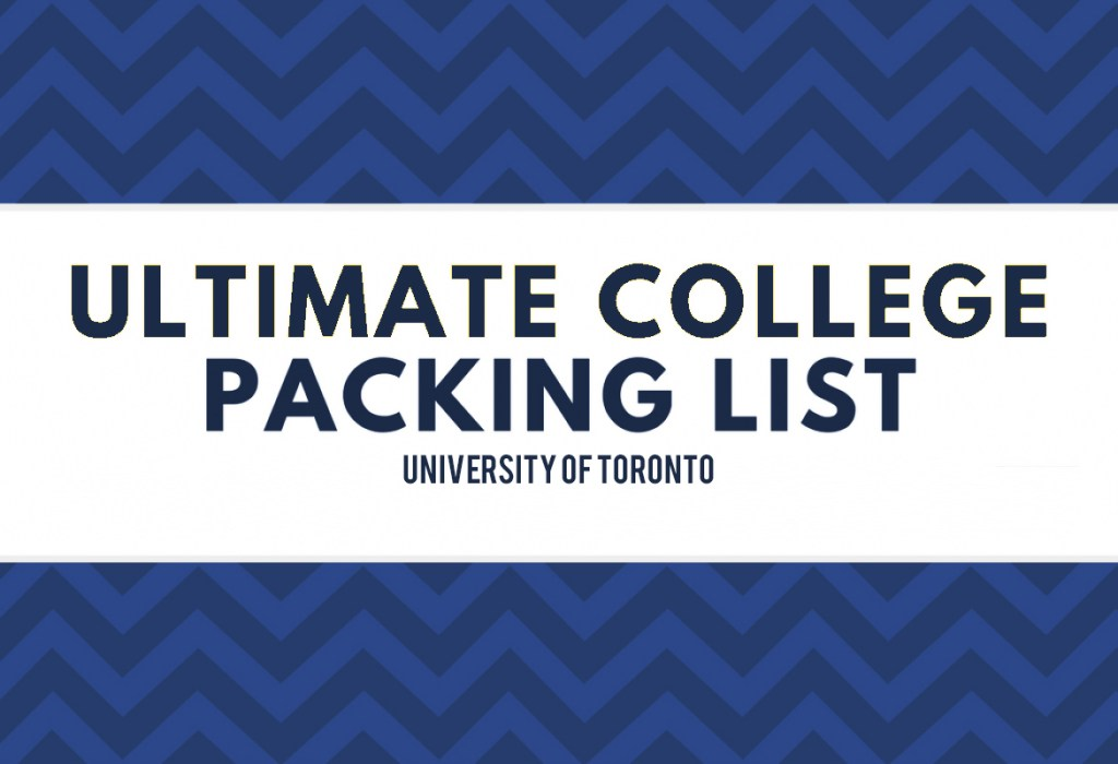 University of Toronto Packing list