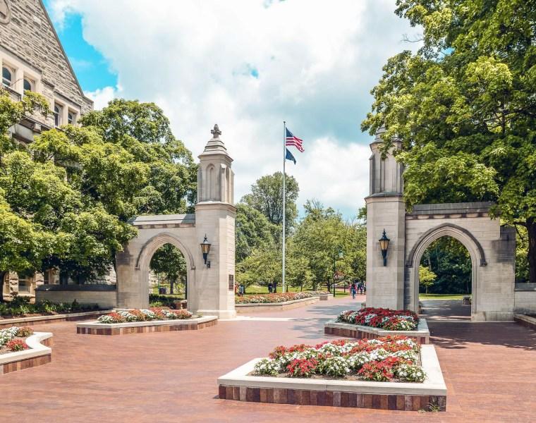Indiana University Main Entrance