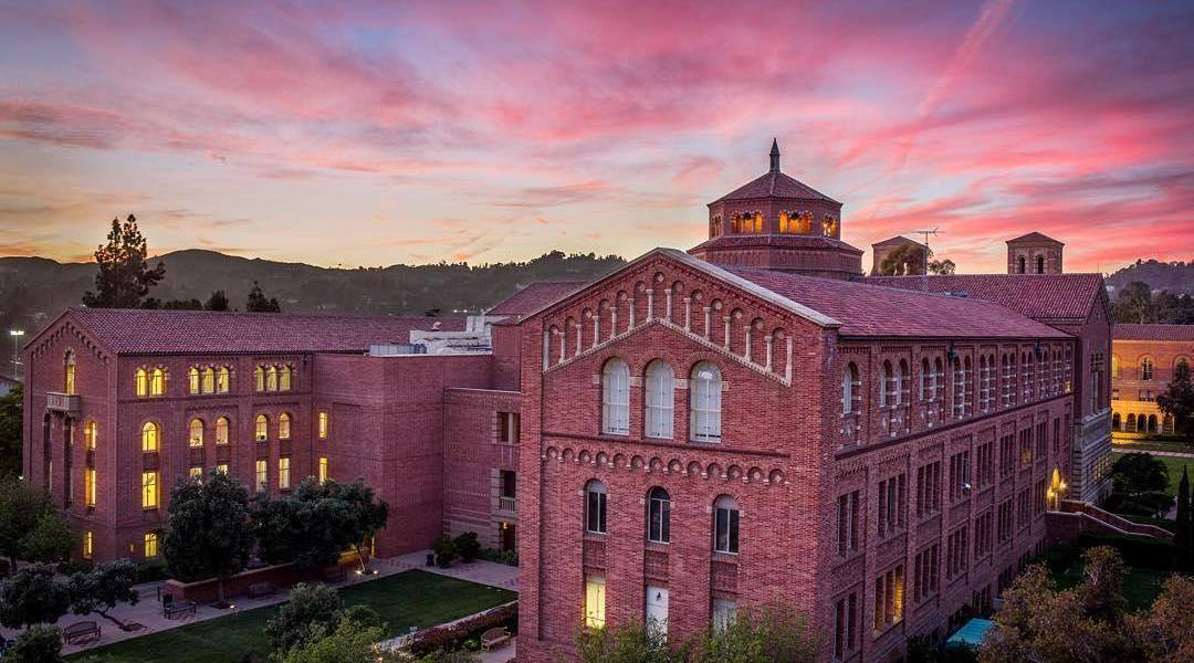 sun set at UCLA