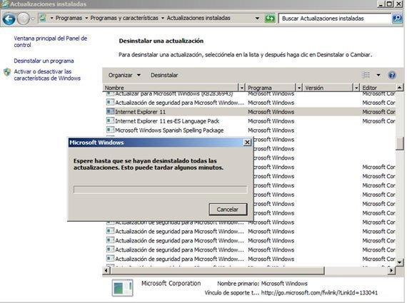 ¿Cómo desinstalar Internet Explorer 11 y volver a una versión anterior?