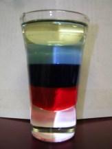 Layered Liquids in a Glass