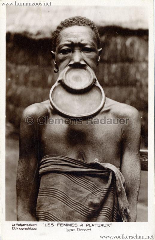 1929 Les Negresses Femmes 224 Plateaux Saucerlip Ubangi