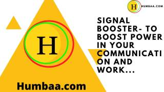 Signal booster- to boost power in your communication and work...