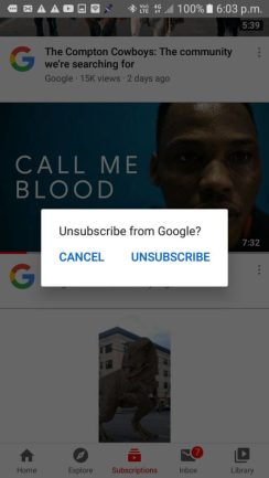 Click on the UNSUBSCRIBED button