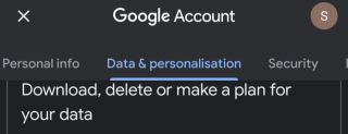 Data and personalisation