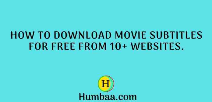 How To Download Movie Subtitles for free from 10+ websites