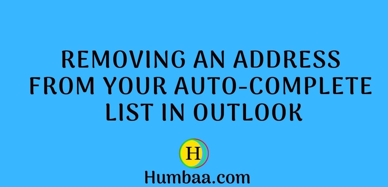 Removing an address from your auto-complete list in Outlook