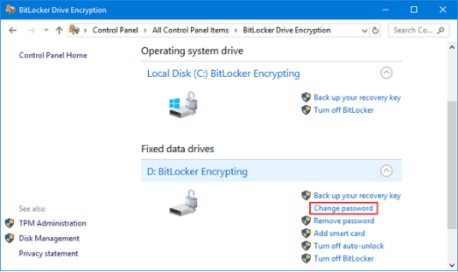 Bitlocker Drive Encryption on Humbaa