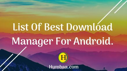 List Of Best Download Manager For Android.