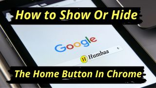 How to show or hide the home button in chrome