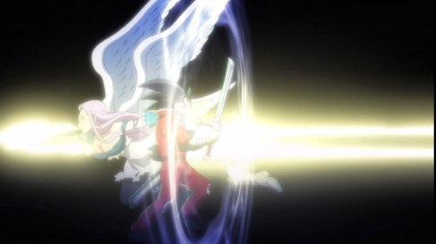 Ludociel giving finishing blow to zeldris