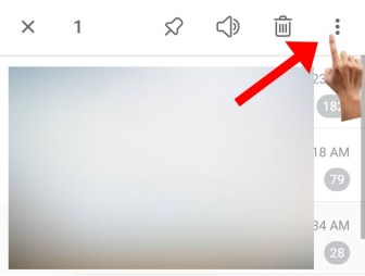 click on the three dots shown in the upper right corner