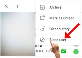 Click on the block user