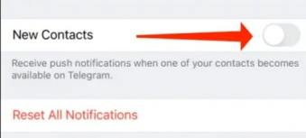 Toggle off New Contact