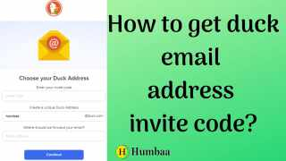 how to get duck email id and invite code