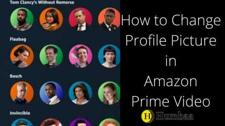 How to Change Profile Picture in Amazon Prime Video