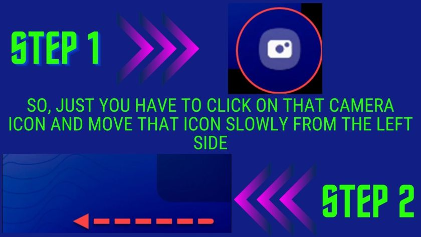 Step 1 and step 2 elaborating that How to Open Your Camera on Android