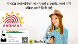 How to Download Aadhar Card without Mobile Number in Marathi