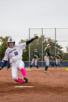 Hawk's women's softball split six-game weekend