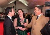 Ben Mulroney interviews Canada's Walk of Fame inductee's Tessa Virtue and Scott Moir on the red carpet on Dec. 1, 2018. (Photo courtesy of etalk)