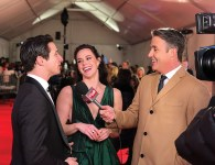 Ben Mulroney interviews Canada's Walk of Fame inductee's Tessa Virtue and Scott Moir on the red carpet on Dec. 1, 2018. (Photo courtesy of etalk)