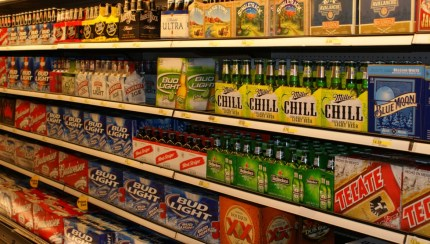 Beer at the grocery stores