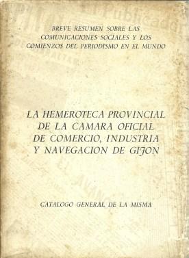 La Hemeroteca Provincial de la Cámara Oficial de Comercio, Industria y Navegación