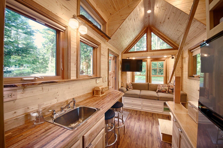 A Tiny House With A Sauna Hope Island Cottages