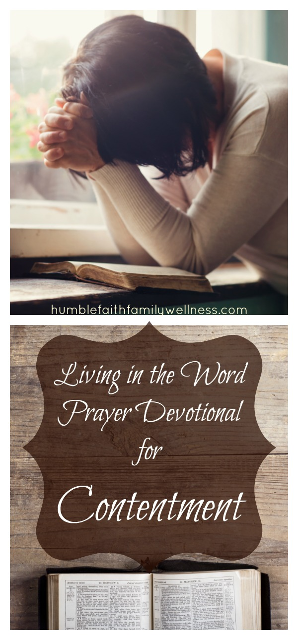 Contentment, Prayer Devotional
