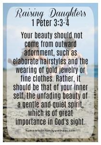 Daughters, Parenting, Gentle and Quiet Spirit