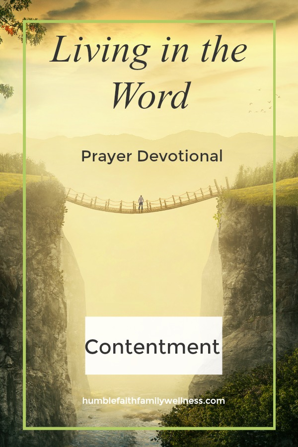 Contentment, Prayer Devotional