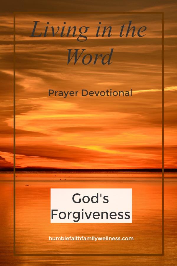 God's Forgiveness, Prayer Devotional