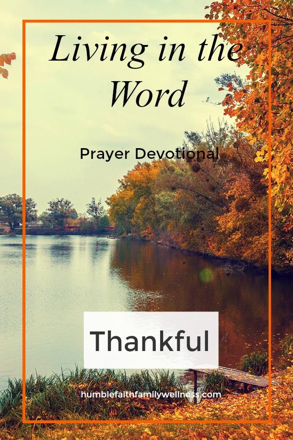 Thankful, Prayer Devotional, Faith