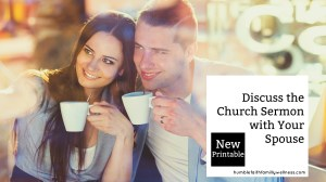 Discuss the Church Sermon with Your Spouse