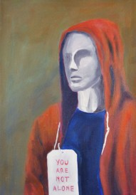 Steve Marriott / You Are Not Alone (2015) / Oil on Canvas / 8 x 11.5 inches