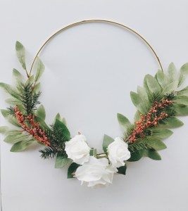 Photo of making a winter wreath
