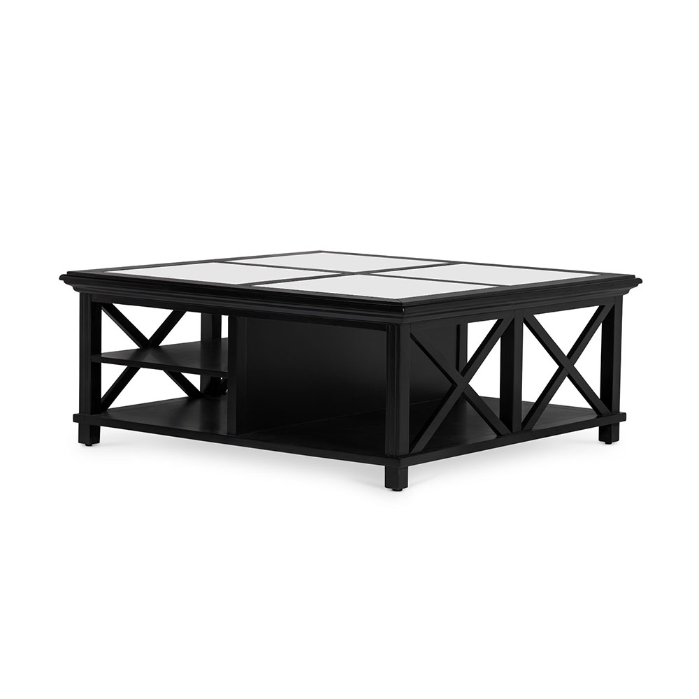 highland black coffee table square