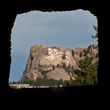 Mt. Rushmore from Doane Robinson Tunnel (Custer S.P., S.Dak.)