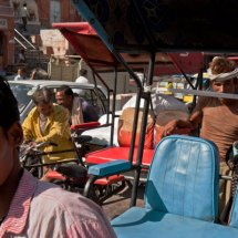 Bicycle rickshaw driver