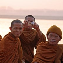 Monks on the Ganges