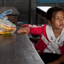 Tonle Sap floating village school (girl)